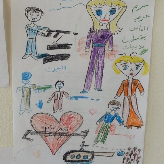 Drawings by Syrian Refugee Children Reveal What Is Going on Inside Their