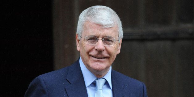 Former Prime Minister Sir John Major arrives at the Royal Courts of Justice, London, to attend the Leveson...