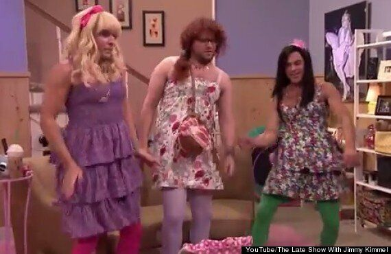 Zac Efron, Seth Rogen And Jimmy Kimmel Sport Drag And Poke Fun At James Franco