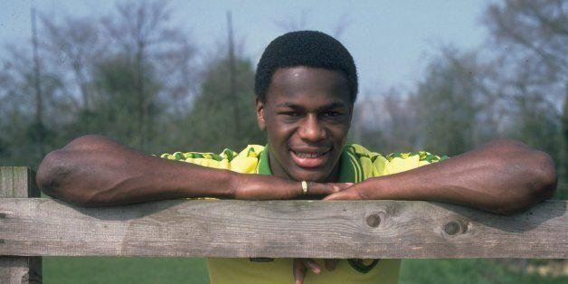 Apr 1981: Portrait of Justin Fashanu of Norwich City. \ Mandatory Credit: Allsport UK