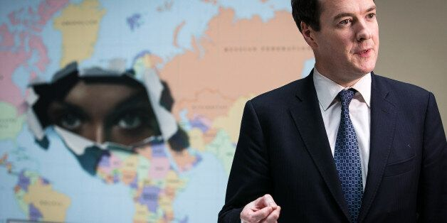 George Osborne, U.K. chancellor of the exchequer, speaks at an interview during a Group-of-20 (G-20)...