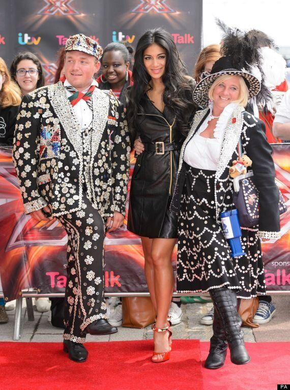 Nicole Scherzinger Goes Hell For Leather At 'X Factor' Auditions As She Poses With Pearly King And Queen