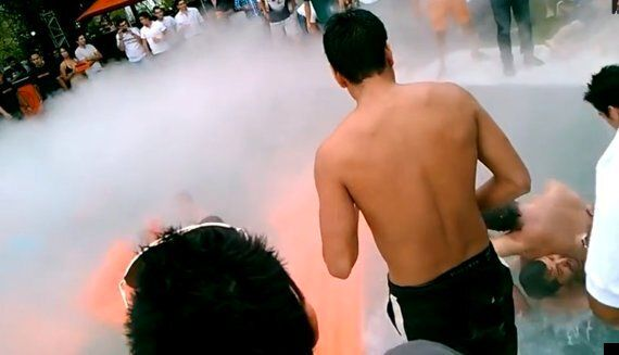 Liquid Nitrogen Pool Stunt Leaves Man In Coma & Injures 8 During Mexican Jagermeister Party