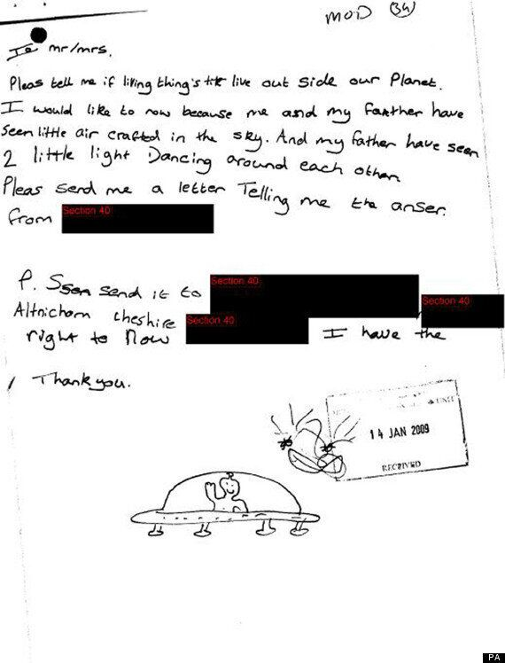 UFO Files Reveal Letter From Researcher Pleading To The Queen Over Alien