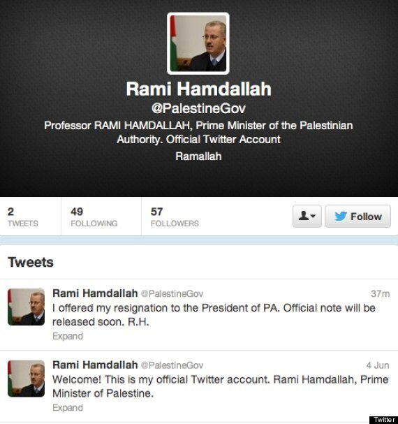 Rami Hamdallah Resigns As Palestinian PM, But Causes Unintentional Twitter