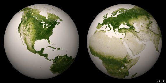 Nasa Unveils Dramatic 'Green Marble' Picture Of