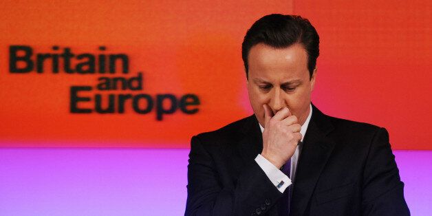 File photo dated 23/1/2013 of Prime Minister David Cameron makes a speech on Europe, in central London,...
