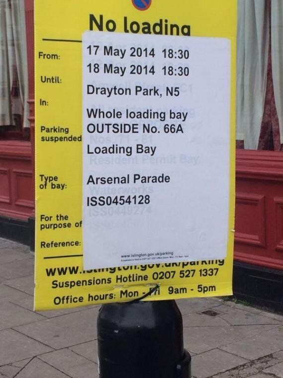 Arsenal FC Serve Traffic Notice Ahead Of FA Cup Trophy
