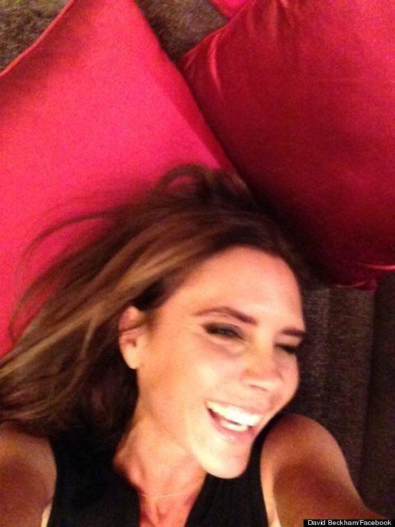 David Beckham Posts Facebook Photo Of *Gasps* Victoria Beckham SMILING. Yes,