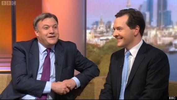 George Osborne Goes Running After Ed Balls'