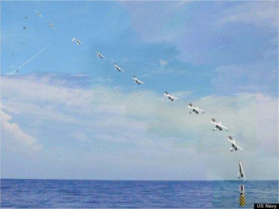 US Navy Launches Drone From A