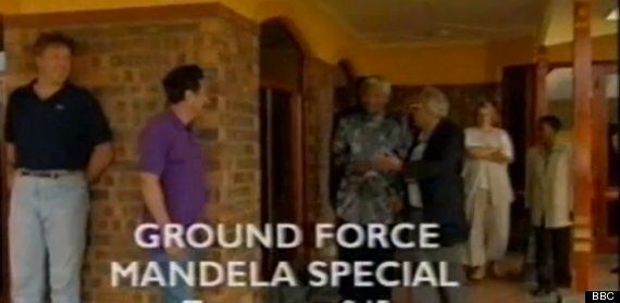 Nelson Mandela Revealed A Different Side When He Appeared On Ground Force With Alan