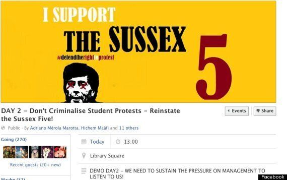 Sussex University Suspends Students For Protesting Against
