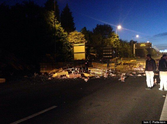 Dead Chickens Close M62 Motorway After Lorry