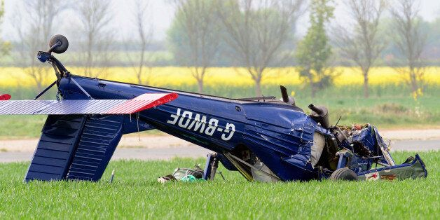 The light aircraft that crashed at Hinton-in-the-Hedges airfield, near Brackley, injuring Ukip candidate...
