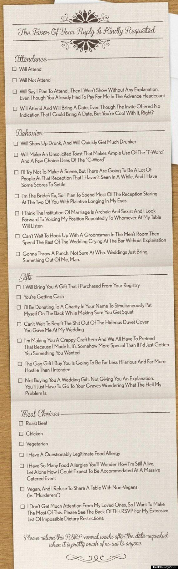 At Last, An Honest Wedding