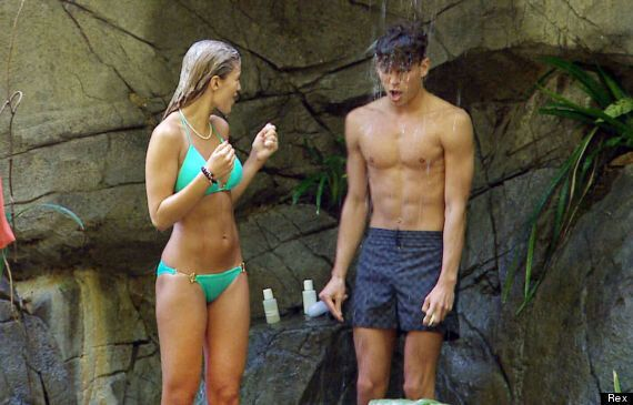 'I'm A Celebrity': Joey Essex And Amy Willerton Cosy Up On A Sunbed, As He Admits They're 'Closer Than