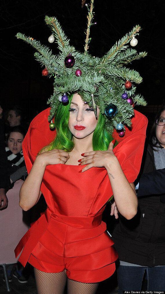 Lady Gaga Dresses Up As A Christmas Tree After Capital FM Jingle Bell Ball Gig