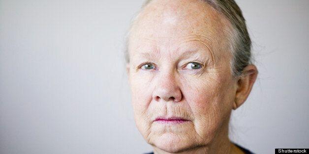 portrait of a senior woman...