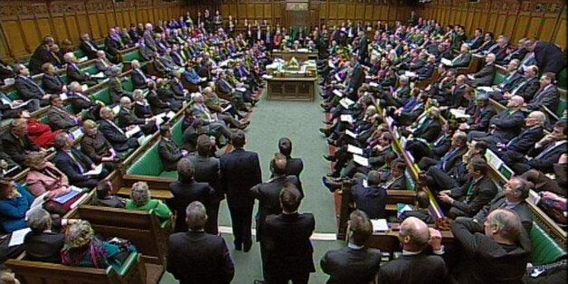 The Debating Chamber during Prime Minister's Questions in the House of Commons,