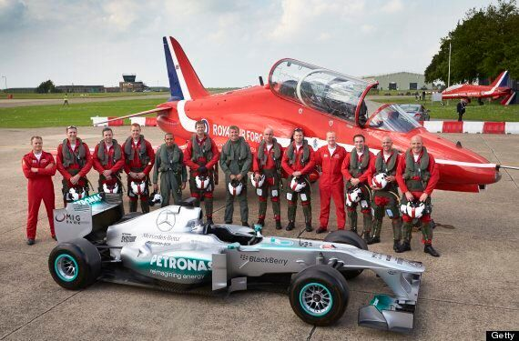 Lewis Hamilton Swaps F1 For Red Arrows