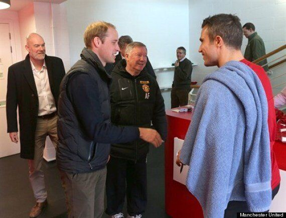 Prince William's Visit To Manchester United