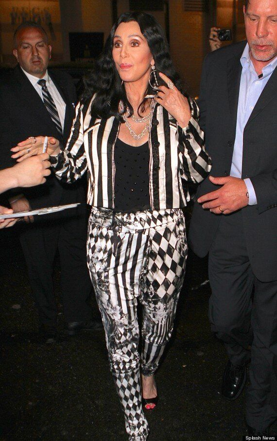Cher Isn't About To Start Wearing Cardis Just Yet As She Steps Out In Bizarre Outfit In NYC