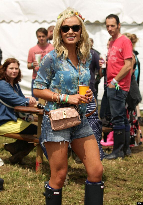 Katherine Jenkins Ditches The Glamour For Wellies To Join Millie Mackintosh At Glastonbury