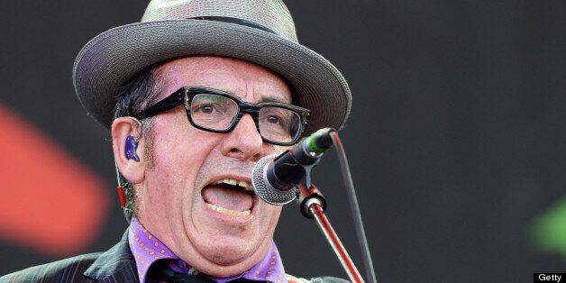 Elvis Costello performed the anti-Thatcher