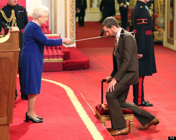 Sir Bradley Wiggins Receives Knighthood From The Queen