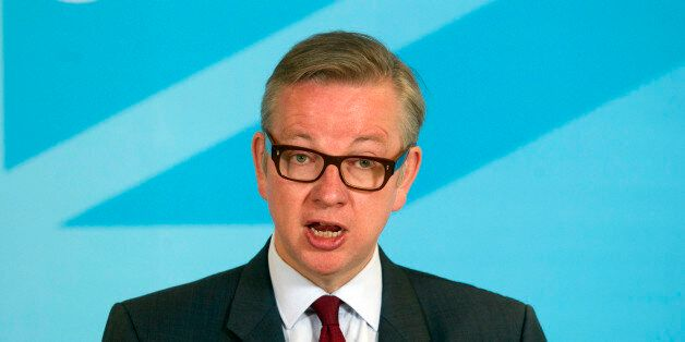 Education Secretary Michael Gove gives a speech at Conservative Campaign Headquarters in central
