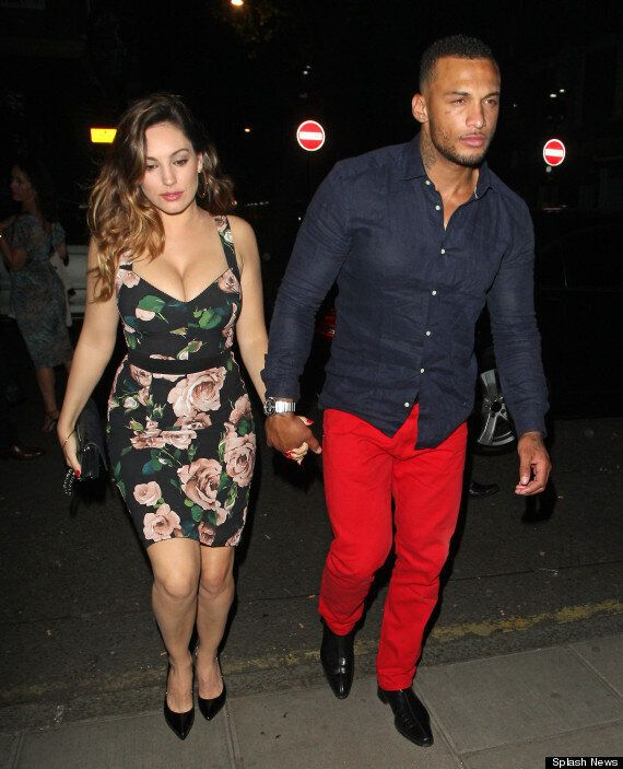Kelly Brook Wears Boob-tastic Dress As She's Reunited With Fiancé David McIntosh In London