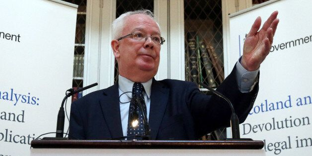 Advocate General the Lord Wallace of Tankerness QC makes a speech during the launch of UK Government's...