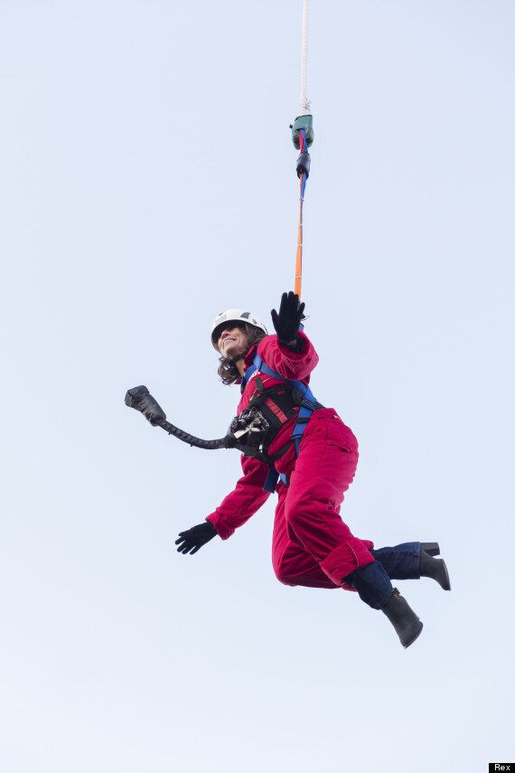 Loose Women's Andrea McLean Completes Reverse Bungee Jump For 'Text Santa' Appeal