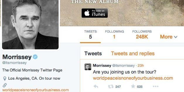 Morrissey Twitter Account @itsmorrissey Is Fake, According To