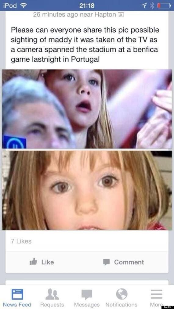 Madeleine McCann 'Lookalike' Picture From Europa League Final Sends Social Media Into