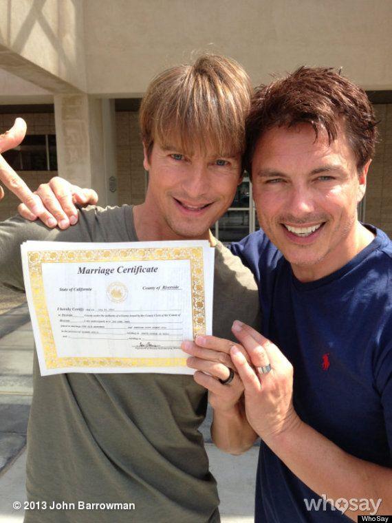 John Barrowman Marries His Long-Term Partner Scott Gill In California (PICS,