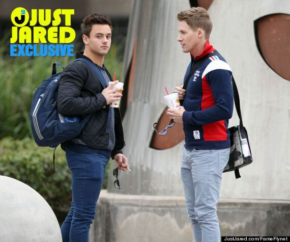 Tom Daley Pictured With Rumoured Boyfriend Dustin Lance Black For First Time