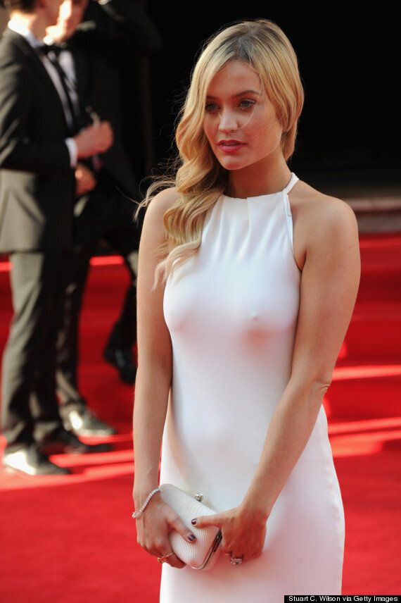 Baftas 2014: Davina McCall And Laura Whitmore Suffer Wardrobe Malfunctions On Red Carpet