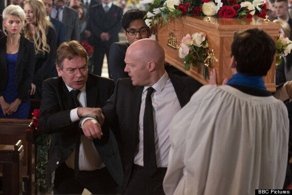 'EastEnders' Spoiler: Ian Loses His Temper At Lucy Beale's Funeral