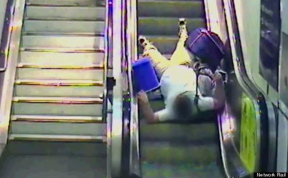 People Falling Down Escalators Video Released By Network Rail To Teach You All A