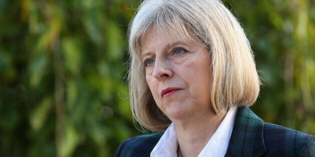 Home Secretary Theresa May is interviewed after addressing The College of Policing Conference in Bramshill...