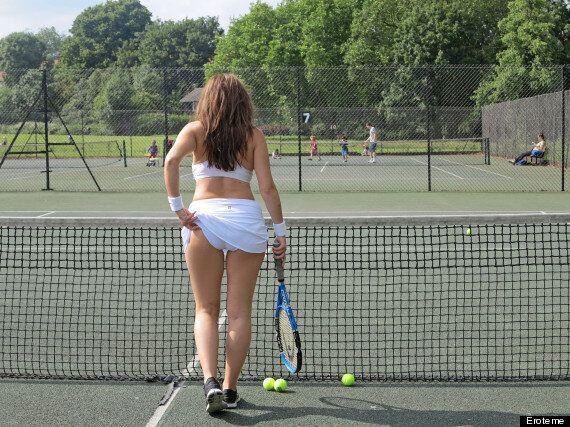 Imogen Thomas Recreates 'Tennis Girl' Pose As She Gets In Wimbledon Spirit