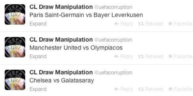 Uefa Corruption Twitter Account 'Predicts Champions League