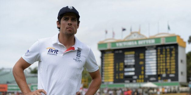 PERTH, AUSTRALIA - DECEMBER 17: England captain Alastair Cook after losing the Third Ashes Test Match...