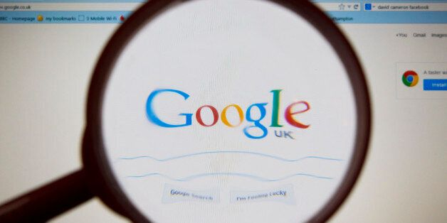 The Google logo as seen by millions of users worldwide on a laptop screen. PRESS ASSOCIATION Photo. Picture...
