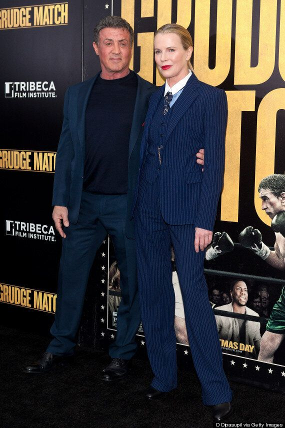 Kim Basinger Stuns In Pinstripe Suit At New York Premiere For 'Grudge Match'