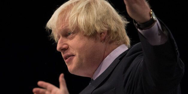Mayor of London Boris Johnson addresses the Conservative Party conference in