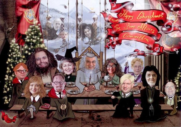 Theresa May Depicted As A Witch In MPs' Christmas