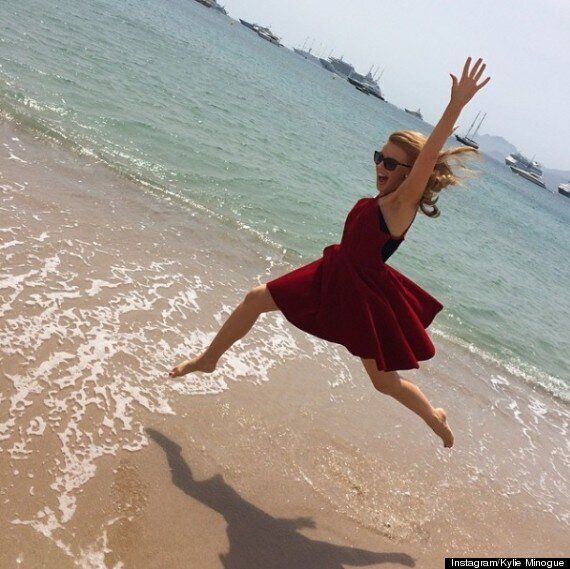 Cannes Film Festival 2014: Kylie Minogue Shows Off Her Legs In Short, Sparkling Dress